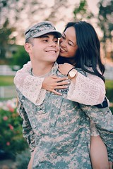 Adam and Denice Lee (hellodayne) Tags: portrait army couple marriage wife armywife vsco