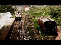Cinemascope: The Loco and the the Coaches (Anubhab's Photography) Tags: new gm er indian railways locomotives emd jalpaiguri nfr njp irfca wdp4 wdp4b