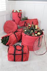 Santas Bags New Products (christmaslites.com) Tags: red tree santas garland storage wreat