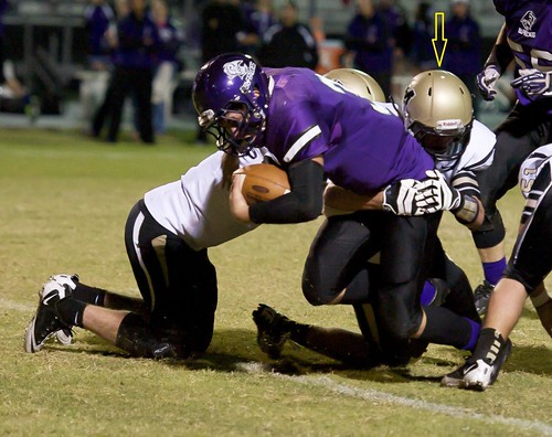 """Making a tackle. Freshman year. • <a style=""""font-size:0.8em;"""" href=""""http://www.flickr.com/photos/38444578@N04/14963290028/"""" target=""""_blank"""">View on Flickr</a>"""