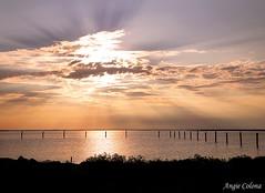 Sunset And Sunbeams (Angie Colona Photography) Tags: sunset beach clouds canon sunbeams crisfieldmd wellingtonbeach