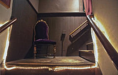 Watch Your Step, Sir #1 (Crick3) Tags: chair purple 4 cheers chuck cheers2 wchesterfield actorstheatre chuck2 cheers3 cheers5 cheeredbythepigsty actorstheatre2com nhlanding