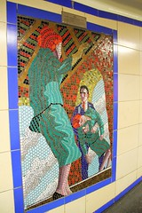 Vertigo. Alfred Hitchcock mosaics at Leytonstone tube station (ec1jack) Tags: uk england london station underground britain mosaic tube vertigo september leytonstone londonunderground hitchcock essex centralline alfredhitchcock 2014 mosiacs kierankelly ec1jack alfredalfred canoneos600d