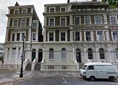 Honda Acty (with houses for scale) (Sim's pics) Tags: uk white london honda keivan van lambeth acty 軽トラ keitora e209lhx