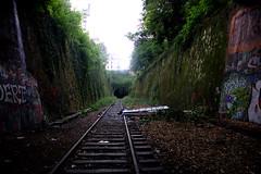 WheredafuckamI? (WacsiM) Tags: paris nature train canon lost eos belt ledefrance rails 1855mm 75 exploration perdu petite ceinture couronne 550d