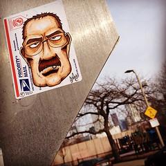 Southie, Boston #synapse (synapse65) Tags: streetart boston square graffiti sticker stickerart stickers squareformat usps hefe southie synapse slaps label228 slapup iphoneography instagramapp