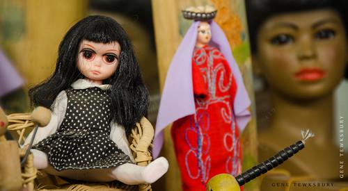Dolls on Shelf