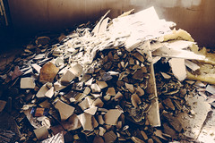 Rubble (Man About Tao) Tags: abandoned mess debris tip rubbish extension skip rubble gutted buildingwork