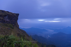 The Peak Before Dawn (Phu Chi Fa) (baddoguy) Tags: cliff cloud horizontal fog thailand outdoors photography dawn twilight overcast nopeople images getty thesummit mountainrange traveldestinations colorimage mountainpeak chiangraiprovince gulfcoaststates