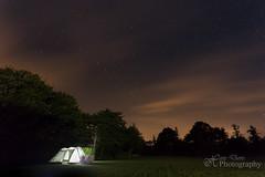 Stars shining bright above you (Sadloafer) Tags: uk trees sky nature horizontal night stars landscape outdoors photography cornwall nopeople tent illuminated singleobject