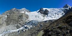Panorama van Riedgletscher, Bordierhtte zichtbaar (Inklaar) Tags: autostitch panorama bergen alpen wallis sankt 2014 zwitserland gletsjer niklaus gasenried walliser visp bordierhtte riedgletscher mischabelgruppe inklaar:see=all ijsval