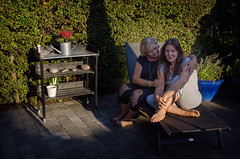 In the garden (Melissa Maples) Tags: woman selfportrait me garden denmark nikon europe melissa blonde dane brunette nikkor maples vr afs  margit 18200mm f3556g  18200mmf3556g d5100 storelyngby