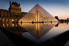 The Louvre Pyramid (buenoflex) Tags: city sunset paris france museum architecture french evening quiet louvre peaceful best le pyramide