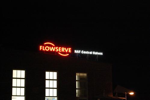 Flowserve takskylt