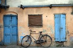 At a typical wada in Shukrawar Peth (parmeetkohli) Tags: wood key doors market lock sleep shade cycle noise idle punekar pune peth wada mandai puneri shukrawar