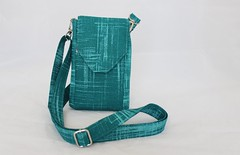 Cell Phone Bag (Tracey Lipman) Tags: blue mobile bag ipod phone cross tech body handmade teal nappy cell samsung canvas fabric cotton galaxy pouch strap tracey shoulder painters iphone adjustable padded torquoise lipman crossbody traceylipman
