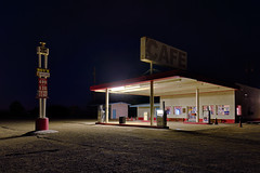 roy's gasoline. amboy, ca. 2014. (eyetwist) Tags: california longexposure station sign night america vintage dark typography photography cafe route66 nikon pumps desert diesel famous tripod motel landmark 66 gas gasstation fullmoon route highdesert mojave type pro americana moonlight service nik petrol gasoline nikkor expensive iconic nocturne hdr mojavedesert servicestation roys amboy 499 typographic exposures bracketed eyetwist efex npy roysmotelcafe d7000 capturenx2 eyetwistkevinballuff nikond7000 1024mmf3545g nikhdrefexpro americantypology ifyoueverplantomotorwest