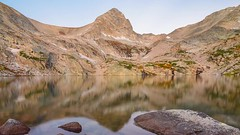 Blue Lake sunrise (jaovandelagemaat) Tags: mountain mountains sunrise landscape timelapse colorado bluelake indianpeakswilderness