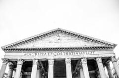 pantheon rome (HybridDave) Tags: blackandwhite italy white black rome roma church dave mono ancient nikon italia roman basilica forum pantheon monotone round highkey hybrid myth pantheo
