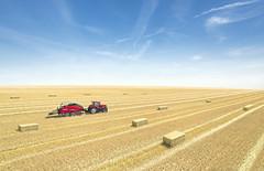 Case IH LB 434 (Case IH Europe) Tags: blue sky tractor field landscape outdoor farming case vehicle farmer machines agriculture lb baler 434 caseih