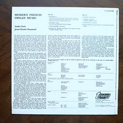 Backside Messiaen, Litaize, Tournemire, Durufle, Vierne, Langlais, Grunewald - Modern French Organ Music - Andr Isoir & Jean-Claude Raynaud Organ Orgel Orgue, Turnabout TV-S 34319, 1971 (Piano Piano!) Tags: art 1971 cover lp sleeve hoes 12inch plaat durufle langlais langspeelplaat tournemire vierne litaize backsidemessiaen grunewaldmodernfrenchorganmusicandrisoirjeanclauderaynaudorganorgelorgue turnabouttvs34319 coverarthoeshulle12inch discdisquerecordalbumlplangspeelplaatgramophoneschallplattevynilvinyl