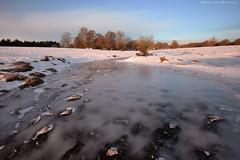Cold winter morning (Hector Prada) Tags: sunrise river frozen ice winter trees light cold amanecer rio helado hielo invierno arboles luz alava
