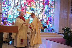 Deacon Seyler's investiture of the dalmatic and stole.