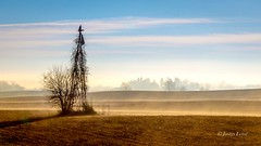 Morning Sun (Justin Loyd Photography) Tags: rural fog foggy sunny sun morning iowa photography light field beautiful bright colorful blue february winter cold tuesday windmill old canon 6d eos 24105l landscape country dallascounty aged f9 2017 ngc