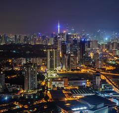 KL City Nightscape (Arief Rasa) Tags: kualalumpur kl city cityscapes nightshot kltower klcc lighttrail landscape metro metropolitan urban capital malaysia hazy