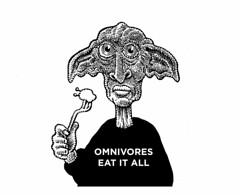 Omnivores eat it all (Don Moyer) Tags: hob hobgoblin omnivore eat kickstarter ink drawing sketchbook moyer donmoyer brushpen