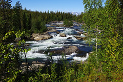 2015 / Day 1 / View of Gamájåhkå rapids (Gregor  Samsa) Tags: sweden sverige north deepnorth trek trekking track tracking hike hiking walk walking backpacking wandering sápmi sapmi lapland lappland adventure outdoor outdoors nature scenery scenic river sunlight light september autumn fall summer beautiful serene sarek nationalpark sareknationalpark waterfall waterfalls falls rapid rapids gamájåhkå gamajahka