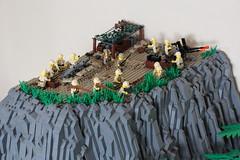 Battle of Peleliu - The Ridge (X39BrickCustoms .com) Tags: lego custom battle peleliu world war 2 japanse marines ww2 warfare swat army guns