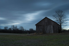 Storms. (+Lonnie & Lou+) Tags: nature ohio travel longexposure sony usa sky clouds winter landscapephotography spring green grey old barn