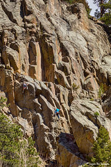 Two Rock Climbers Making Their Way (Striking Photography by Bo Insogna) Tags: bouldercanyon boulder colorado rockclimbing climberparadise sport challenge narrows bouldercounty insogna nature landscapes