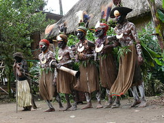 sing sing local dance at village near Mount Hagen (Pete Read) Tags: singsing local dance village mount hagen papau new guinea