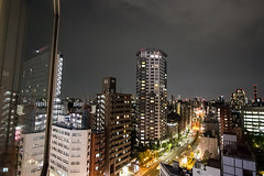 Tokyo from my window (handheld camera) (IAN ART | Photography) Tags: tokyo japan night view city town urban street road traffic cars light cross color travel building above sky cloud architecture landscape summer darkness outdoors handheld