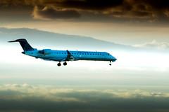 Bombardier CRJ700 on Approach at Denver International Airport (Michael Bateman) Tags: bateman michael photography wildlife denver colorado unitedstates us