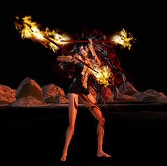 TerraMerhyem_2016_Shaman 04 (TerraMerhyem) Tags: sorcière sorcellerie sorcery magie shaman chamane chamanisme shamanism feu fire bruler burning terramerhyem merhyem sorciere witch magic femme woman belle beauté beauty flammes ritual rituel chamanique shamanic sexy