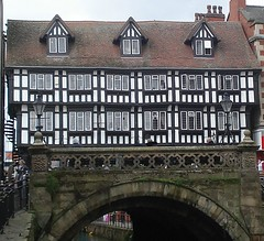 [49173] Lincoln : High Bridge (Budby) Tags: lincoln lincolnshire blackwhite bridge river timbered waterway