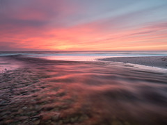 The last of the light (Uldis K) Tags: balticsea sunset afterglow river longexposure seascape sky landscape water