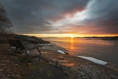 Bench (MattiBo) Tags: helsinki seascape rocks bench scandinavia suomi sunset finland nikon d750 1424 nikkor