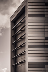 Architecture of linears (Coisroux) Tags: offices monochrome linear cladding enclosed structures engineering peterborough metal squares roofline blackandwhite d5500 design modernism urban nikond frames