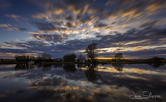 Sky Movement (jammo s) Tags: riverthurne longexposure 10stop reflection river dusk spring wideangle lightroom canoneos6d canonef1740mmf4lusm norfolkbroads norfolk