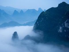 20170327-20170327-P3270100 (cooneybw) Tags: xingping china guangxi karstmountains mountains hiking clouds mountaintop morning backpacking