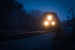 CEFX 1035 (shawn_christie1970) Tags: minneapolis minnesota unitedstates us cefx1035 train railroad sleet winter bluehour one handsome eastbound cp newhope ac4400