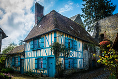 The house with blue shutters (Thierry GASSELIN) Tags: d7100 colombages bleu