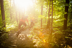 Jan Gugler, William Botka - Rigaud (NicholasLosacco) Tags: trees mountain tree bike speed forest cycling nikon warm ride action jan hill fast bikes william riding mosquito will cycle biking mtb flare mosquitos f28 edit rigaud enduro lightroom gugler 2870mm botka d700