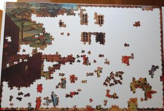 Children's Games (Ravensburger, 3000 pieces) - progress #1