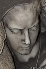 _MG_8421 (Cristian.Rem) Tags: portrait sculpture face canon eos sadness genova sculture statua ritratto cimitero faccia staglieno 450d
