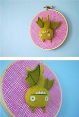 Flightless Ice-Bat (hine) Tags: art giantrobot toy brooch bat craft felt uglydoll icebat needlefelt uglycon feltsculpture hinemizushima